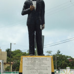 Isiah Morter Statue Belize City